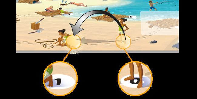Augmentation de 1 echelon sur le compteur de bois du plateau de jeu Galerapagos