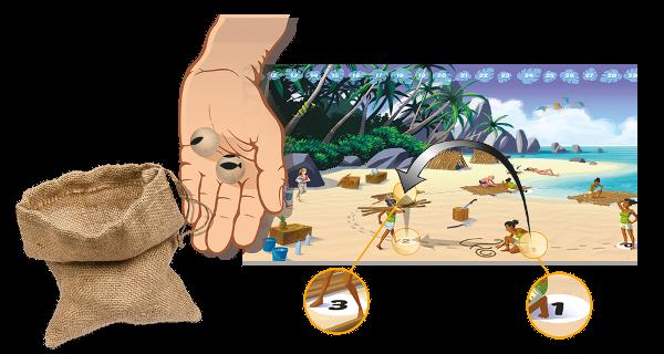 Augmentation de plusieurs echelons sur le compteur de bois du plateau de jeu Galerapagos